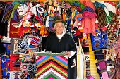 Seller Of Souvenirs From Ecuador