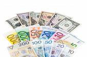 Dollar Euro And Polish Zloty Banknotes