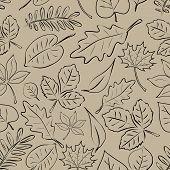Simple Autumn Leaf Seamless Pattern Eps10