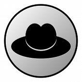 Male Restroom Symbol Button
