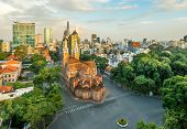 Notre Dame Cathedral is the icon of Ho Chi Minh city