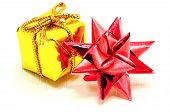 Christmas Star And Gold Gift
