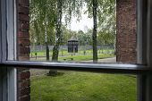 View From A Window In Auschwitz Camp Ii, Nazi Extermination Camp In Poland