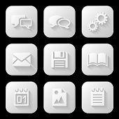 Web icons set. Vector illustration.
