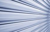 image of roller door  - Perspective of rolling door or shutter door pattern  - JPG