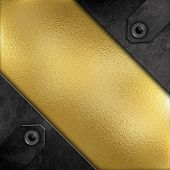 Abstract metallic background with a grunge effect and bronze metal