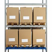 Warehouse Shelving Boxes