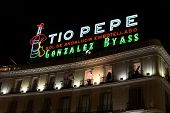 Landmark Tío Pepe Sign At Puerta Del Sol