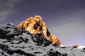Sunset On The Top Of Matterhorn