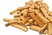 Heap Of Crackers On White
