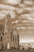 Rock Of Cashel In Sepia