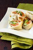 Salmon And Salad Pinwheels