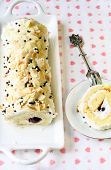 Almond Roulade With Cottage Cheese