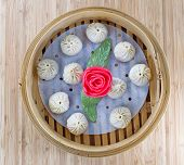 Uncooked Chinese Dim Sum In Server
