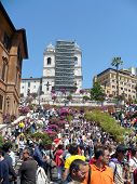 Blossoming Spanish Steps In May Days