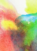 Light colorful watercolor stains.