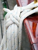 pic of historical ship  - Ship rope on the ship - JPG