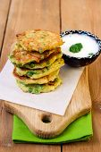 Courgette And Pea Patties
