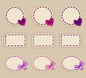 Set of elegant templates frame design