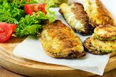 Fried Mackerel With Salad And Tomato