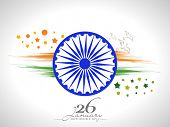 picture of ashoka  - Happy Indian Republic Day celebration with Ashoka Wheel - JPG