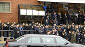 Liu family arrives at funeral home