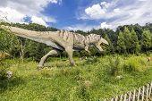 Realistic Model Of Tyrannosaurus Rex Running