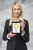 Touch Pad With Abstract Lamp