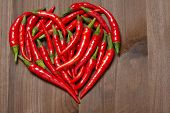 Chili pepper heart