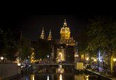 Amsterdam Night: Church Of Saint Nicholas