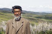 Senior Mongolian man. Please see more of my travel portraits.