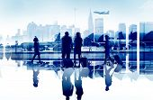stock photo of terminator  - Business People Travel Corporate Aiport Passenger Terminal Concept - JPG