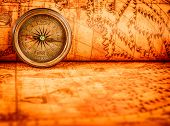 image of treasure map  - Vintage still life - JPG