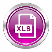 xls file violet icon