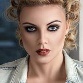 Retro Stylised Fashion Woman Portrait