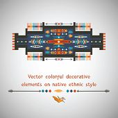 Colorful decorative element on native ethnic style