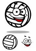 Cartoon White Volleyball Ball Character