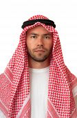 foto of headdress  - Man in Arabic headdress - JPG