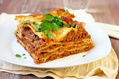 Piece Of Homemade Lasagna