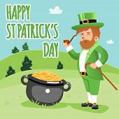 Cartooned Happy St. Patrick Day Poster