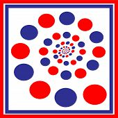 Red And Blue Swirling Circles