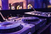 Dj Mixer At A Nightclub. Instagram