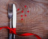 Valentine's Day Table Setting In Rustic Style