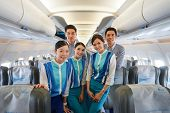 BANGKOK, THAILAND - NOV 11: Bangkok Airways crew members on November 11, 2014. Bangkok Airways is a regional airline based in Bangkok. Its main base is Suvarnabhumi Airport, Bangkok