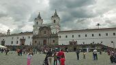 Quito, Ecuador - May 2014: Worshipers Visiting the Church of San Francisco