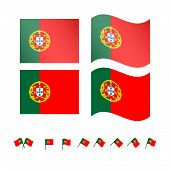 Portugal Flags Eps 10