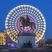 Place Bellecour Statue Of King Louis Xiv, Lyon