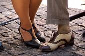 image of tango  - Feet of Tango dancers in the city of Buenos Aires - JPG