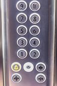 Buttons In The Elevator Without Numbers Ten