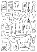 Big doodle set : kitchen